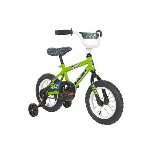 Magna Boys' 12'' Bare Bones Smooth Riding Steel Sidewalk Safe Durable Kids Bicycle With Training Wheels