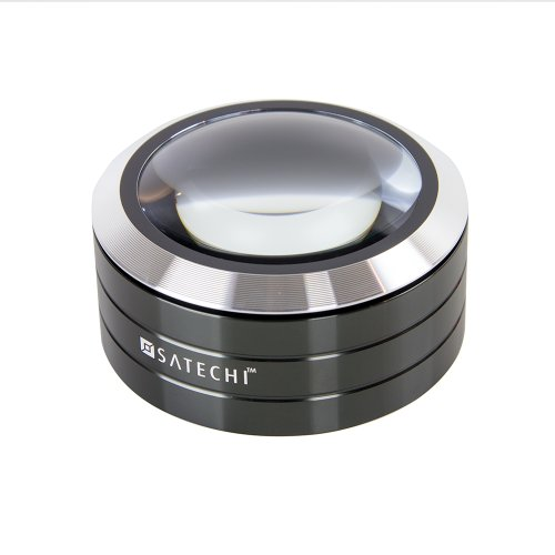 Satechi ReadMate LED Desktop Magnifier with up to 5X Magnification - Carrying Case Included -
