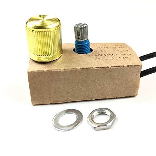 LS LOVINSTAR Zing Ear ZE-03 Full Range Inline Table Lamp Dimmer Switch Light LED 300W (Brass)