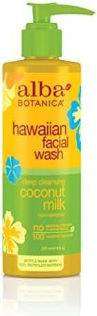 Alba Botanica Hawaiian Nourishing Face Wash, Coconut Milk, 8 oz