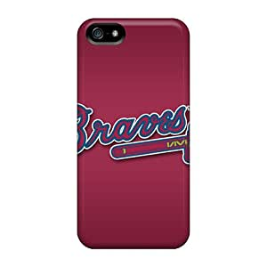 Durable Atlanta Braves Back Case/cover For Iphone 5/5s
