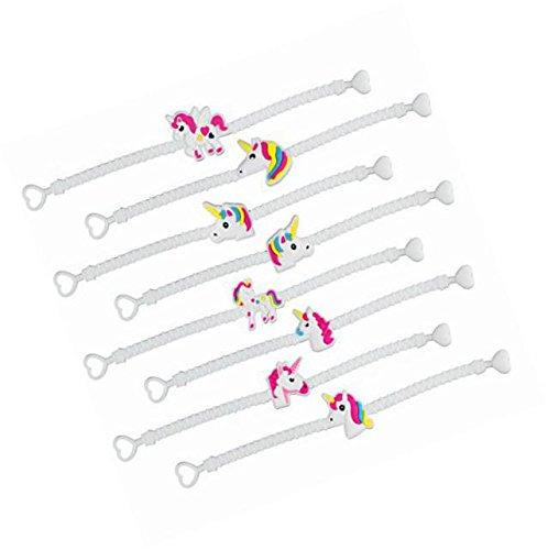 Nikkycozie Emoji Identification party unicorn wristband bracelets, rainbow unicorn birthday favors supplies by Nikkycozie (Image #2)