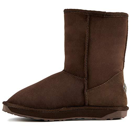 EMU Australia Womens Sheepskin Stinger Lo Boots - Chocolate - 10 (Emu Bronte High Boots)