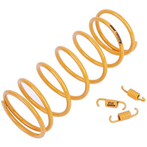 Glixal ATKS-03905 High Performance Racing Moped ATV Scooter Torque Spring with Clutch Springs for GY6 125cc 150cc 157QMJ 152QMI Engine (1500RPM,Yellow)