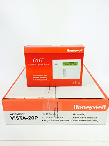 Honeywell Vista 20p and 6160 Custom Alpha Keypad Kit Package
