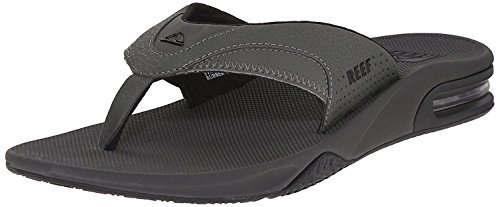 Reef Mens Fanning Sandal Grey/Black mqcf9gg
