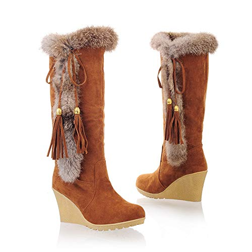 Tube Femme Loisirs Rond Longue Gland Marron Holywin Augmentation Bout Chaud Au Chaussures Neige Bottes Garder vqFxOaw