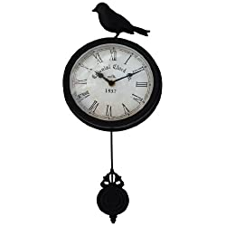 Ashton Sutton H086-15 Bird Wall Clock with Pendulum