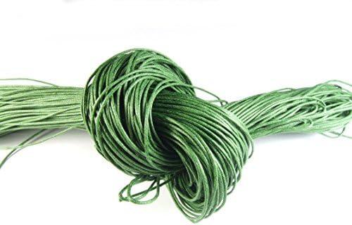 10 Metros Cinta de algodón, encerada, 1,0 mm, verde: Amazon.es: Hogar