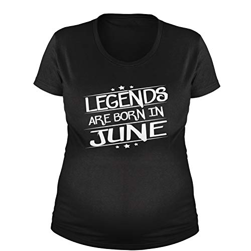 Legends Are Born Maternity in June T-Shirt 3XL Black