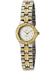 Invicta Womens 0130 Wildflower Collection 18k Gold-Plated and Stainless Steel Watch