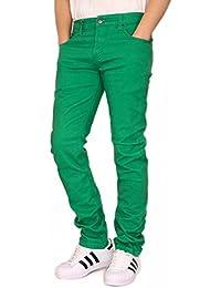 URBANJ Men's Twill Stretch Skinny Jeans