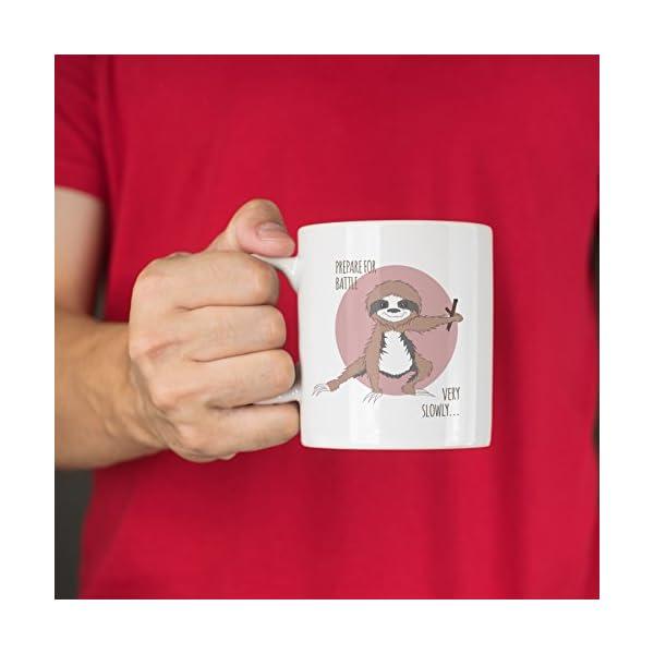 Ninja Sloth Mug Christmas Xmas Holiday Stocking Filler Secret Santa Novelty Present -