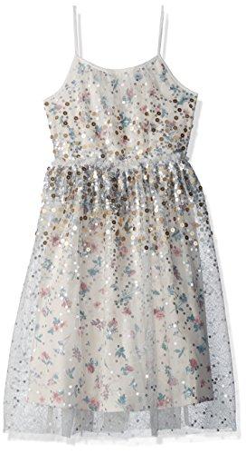 Speechless Big Girls' Floral Glitter Tulle Dress, Cream/P...
