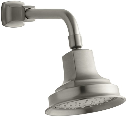 KOHLER 45410-BN Margaux Single Function Wall Mount Showerhead with Katalyst Air Induction Spray, 2.0 GPM, Vibrant Brushed Nickel
