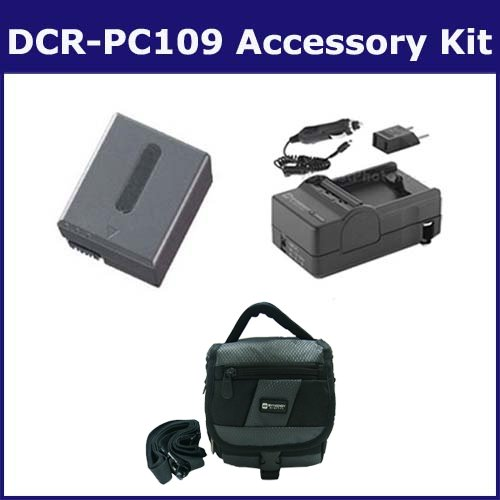Sony DCR-PC109 Camcorder Accessory Kit includes: SDC-27 Case, SDNPFF70 Battery, SDM-102 Charger ()