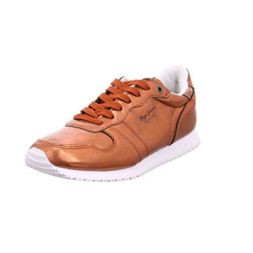 Pepe Jeans London Gable Plain, Zapatillas para Mujer, Naranja (Rust Orange), 36 EU