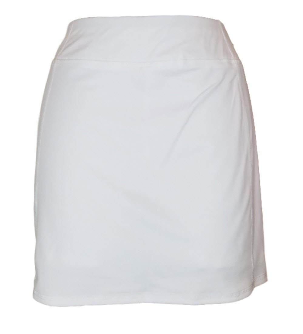 Tangerine Women's Active Skort with Perforated Trim (Medium, White)