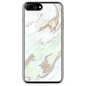 iPhone 8 Plus Transparent Edge Phone case Liquid Marble Phone Case Liquid Green Geode iPhone 8 Plus Cover with Transparent Frame