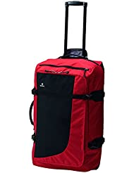 "SWIZA Continuas 24"" Lightweight & Durable Sport Wheeled Duffle Bag with Telescoping Handle - Red & Black"