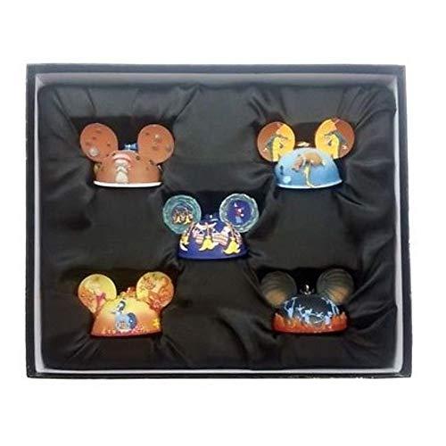 NIB Disney 2015 Mickey Mouse Fantasia Boxed Set of 5 Ear Hat Ornaments Collector