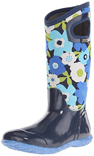 North Boot Weather Rain Multi All Bogs Flowers Women's Hampton Navy 5qxgnwHA7