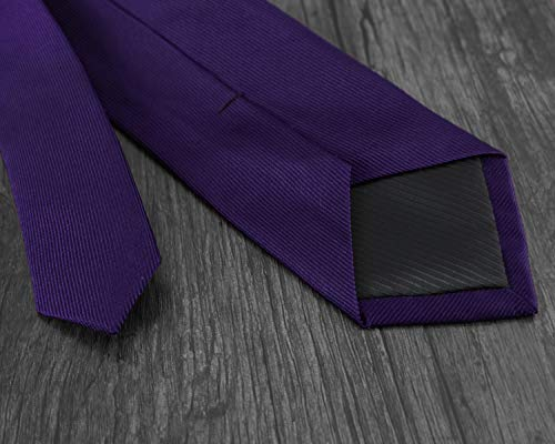 6 Silk Business Colors Formal Tie Solid Woven Plain Wedding Necktie Purple Mens Various Exquisite 100 8CM w8Ptt6