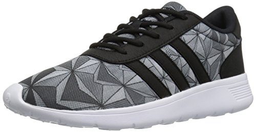 adidas Women's Lite Racer w Running Shoe Black/White Mesh