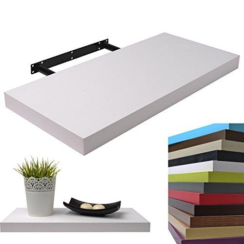 Moorland® Wandboard 50 cm in Weiß, freischwebend, Wandregal mit hoher Tragkraft - in 3 Längen und diversen Farben
