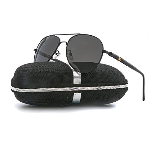 Aviator Sunglasses for Men Women Polarized VOPOLAR Metal Frame UV400 - 140 Mm Sunglasses