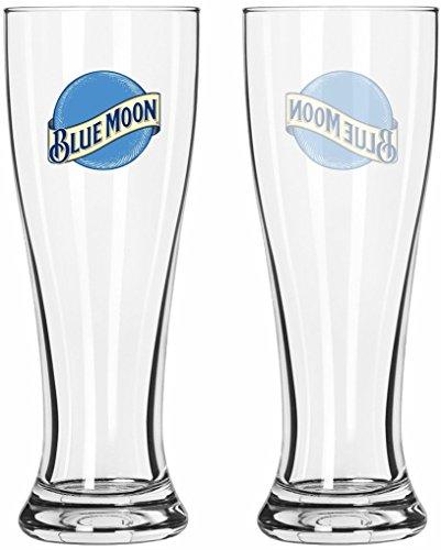Blue Moon Glass (Blue Moon 16 oz Pilsner Beer Glass Set of 2)