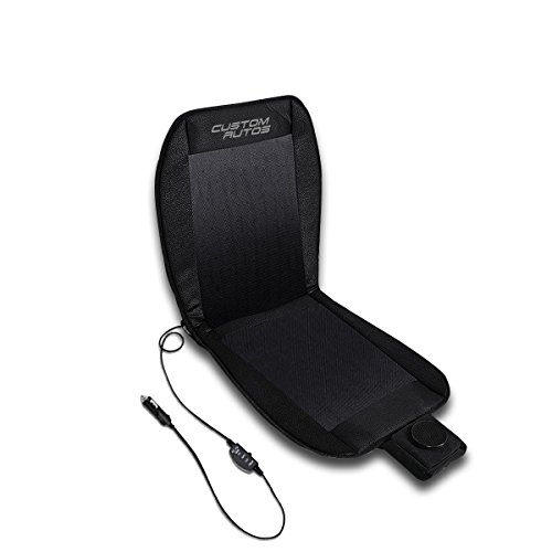 Custom Autos Automotive Black 12V Cool Air Circulating Cushion Car Cooling Seat Cooler Cover