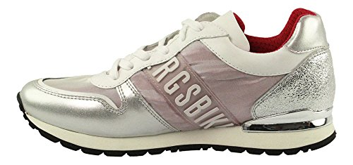 Bikkembergs Kate 853, Women's Low Trainers Argento (Silver/Pink)