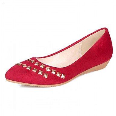 Red zapatos UK4 5 7 UE37 al Moda casuales PU 5 caminar aire US6 de libre Confort tacones CN37 Verano Amarillo RUGAI Mujer UE 5 de sandalias w0F1p4q