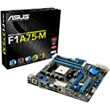 ASUS F1A75-M - FM1 Socket - A75 - SATA 6Gbps and TPM Support (Hudson D3) Micro ATX DDR3 1800 Motherboards