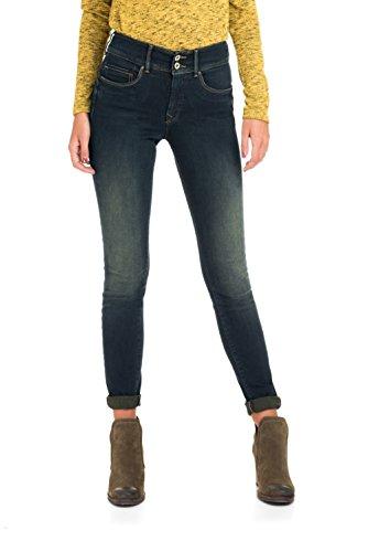 Jeans Skinny Avec Jambe Secret Fermeture Éclair In Push Bleu Femme Salsa OwSqAq