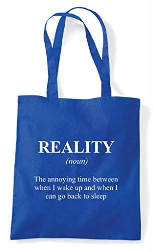 Reality Shopper Blue Definition Funny Dictionary Alternative Not Bag Sleep Royal The Tote In grn7pgvx