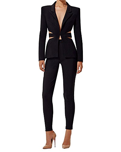 Womens 3 Piece Pant Suit - 8