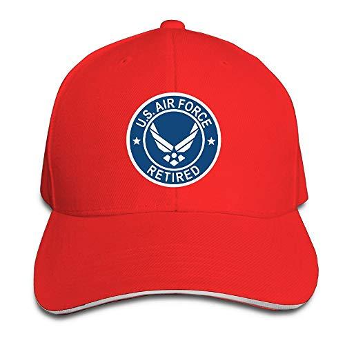 US Air Force Retired USAF Mens & Womens Baseball Hat Retro Peaked Trucker Cap