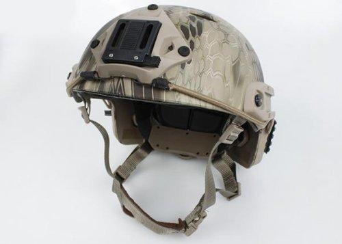 Lancer Tactical CA-725H Fast Helmet PJ type w/ Side Rails and NVG Mount (KRYPTEK HIGHLANDER) by Lancer Tactical