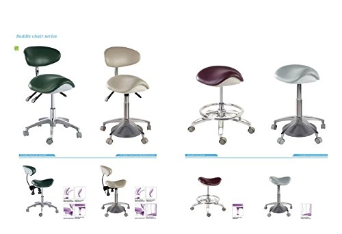 APHRODITE Standard Dental Mobile Chair Saddle-1 Doctor's Stool PU Leather Dentist Chair from Aries Outlets by Aphrodite (Image #1)