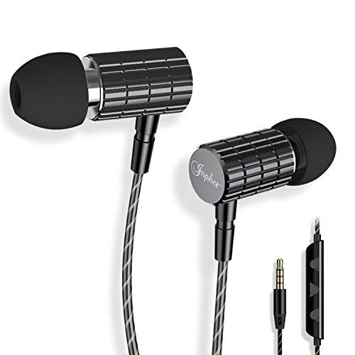 Earphones, Tintec in-Ear Earbuds Stereo Headphones High Definition, Tangle Free, Noise Isolation, Heavy Deep Bass for iPhone, iPad, iPod, Samsung Galaxy, Tablets etc[with Mic & Volume Control]