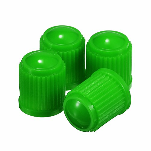 Outus 20 Pack Tyre Valve Dust Caps for Car, Motorbike, Trucks, Bike, Bicycle (Green)