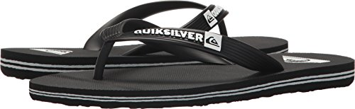 Quiksilver Boys' Molokai Youth Sandal, Black/White, 6(39) M US Big Kid (Footwear Black Youth)