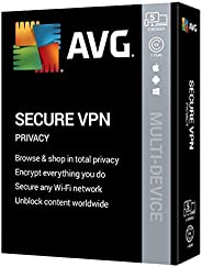 AVG Secure VPN 2020, 5 Devices 1 Year [Key Card in Sealed Retail Box]