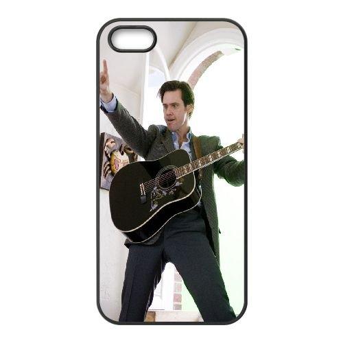 Jim Carrey Actor Man Guitar Celebrity coque iPhone 5 5S cellulaire cas coque de téléphone cas téléphone cellulaire noir couvercle EOKXLLNCD24818