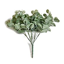 money leaves - SODIAL(R)3 bouquet/lot artificial eucalyptus leaf Green plant branches Flower arranging accessories money leaves
