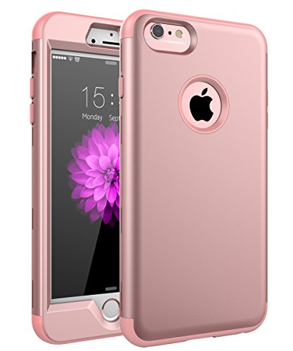 iPhone 6 Plus Case, iPhone 6s Plus Case,SKYLMW Three Layer Heavy Duty High Impact Resistant Hybrid Protective Cover Case For iPhone 6/6s Plus (Only For 5.5')Rose Gold