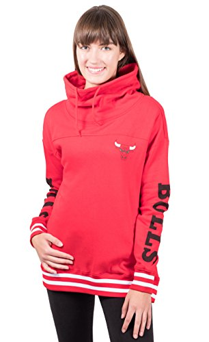 - UNK NBA Women's Standard Fleece Hoodie Pullover Sweatshirt Funnel Neck, Team Color 18, Large