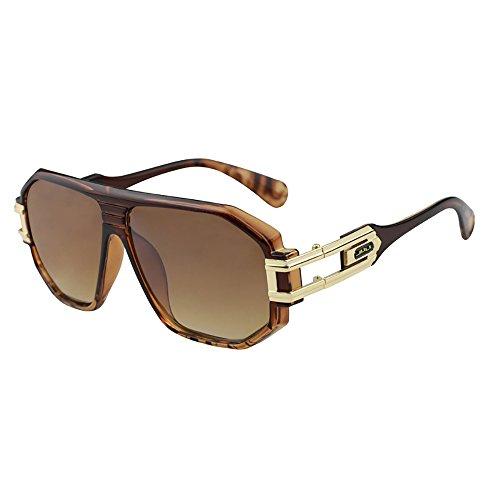 Mode Sport Grand Cadre Lunettes de soleil Marque Designer Coating Oculos Mens BD4018 Tortoise Frame Brown Lens